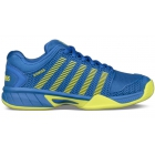K-Swiss Junior Hypercourt Express Tennis Shoe (Strong Blue/Neon Citron) - New Tennis Shoes