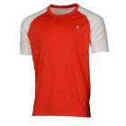 K-Swiss Men's Backcourt Tennis Crew (White/Red) - Tennis Apparel Brands