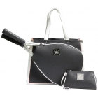 Court Couture Karisa Black Pebble Tennis Bag - Court Couture Tennis Bags