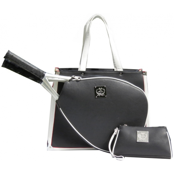Court Couture Karisa Black Pebble Tennis Bag