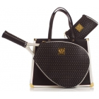 Court Couture Karisa Perforated Black Pebble Tennis Bag - Court Couture Tennis Bags