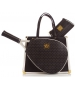 Court Couture Karisa Perforated Black Pebble Tennis Bag - Court Couture