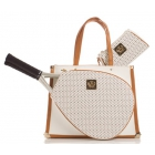 Court Couture Karisa Perforated White Pebble Tennis Bag - Court Couture Tennis Bags