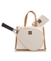 Court Couture Karisa Perforated White Pebble Tennis Bag - Court Couture