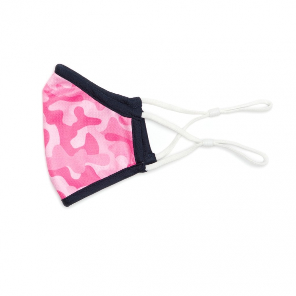 Ame & Lulu Kids Cool Fit Face Mask (Pink Camo)