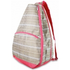 All For Color Khaki Rattan Tennis Backpack - All for Color Tennis Bags