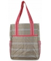 All For Color Khaki Rattan Tennis Shoulder Bag - All for Color Tennis Bags