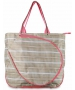 All For Color Khaki Rattan Tennis Tote - All for Color Tennis Bags