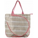 All For Color Khaki Rattan Tennis Tote - All For Color