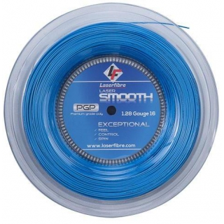 Laserfibre Laser Smooth 16g Blue Tennis Racquet String (Reel)