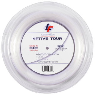 Laserfibre Native Tour 17g Pearl White Tennis String (Reel)