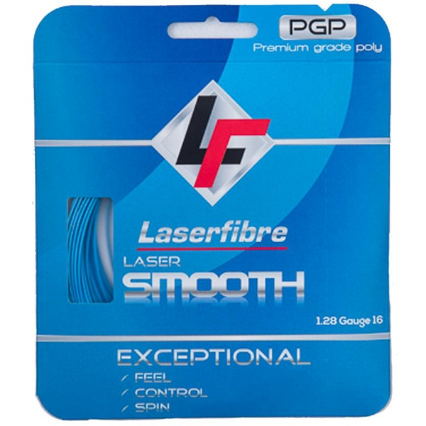 Laserfibre Laser Smooth 17g Blue Tennis Racquet String (Set)