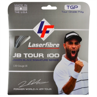 Laserfibre JB Tour 100 17g Silver Tennis String (Set)