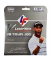 Laserfibre JB Tour 100 17g Silver Tennis String (Set) - Laserfibre Polyester Tennis String Sets