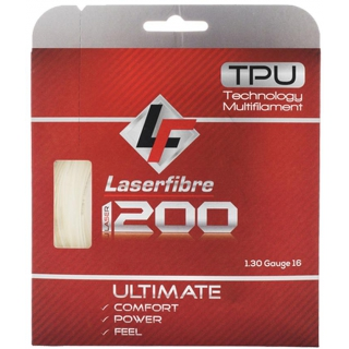 Laserfibre Laser 1200 16g Natural Tennis Racquet String (Set)