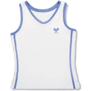 Little Miss Tennis Classic Tank (White/ Lavender)