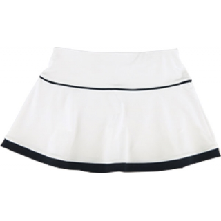 Little Miss Tennis Flared Skirt w Bikers (Wht/ Blk)