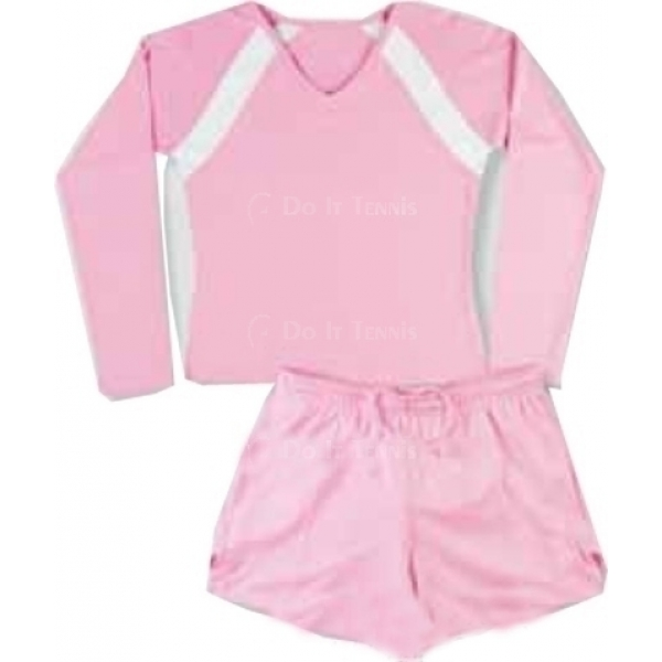 Little Miss Tennis Girls Long Sleeve Tennis Shirt