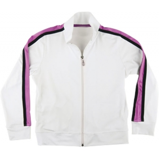Little Miss Tennis Jacket w Side Pockets (Wht/ Fus/ Blk)