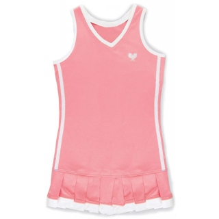 Little Miss Tennis Pleated Dress (Coral/ Wht)