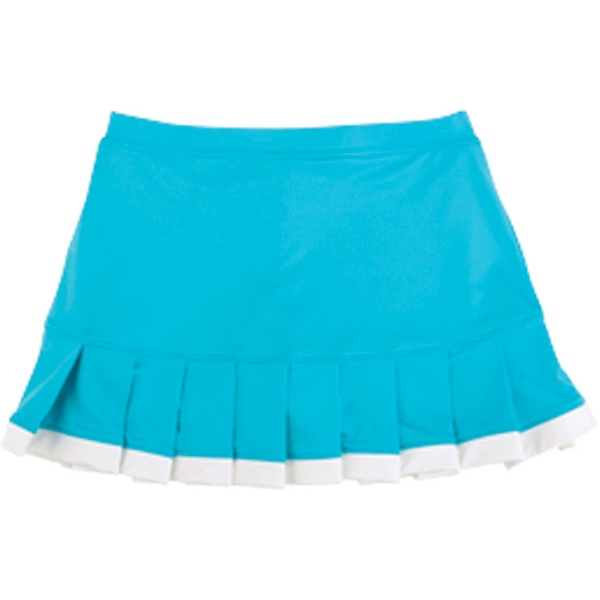 Little Miss Tennis Pleated Skirt w Bikers (Turq/ Wht)