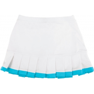 Little Miss Tennis Pleated Skirt w Bikers (Wht/ Turq)