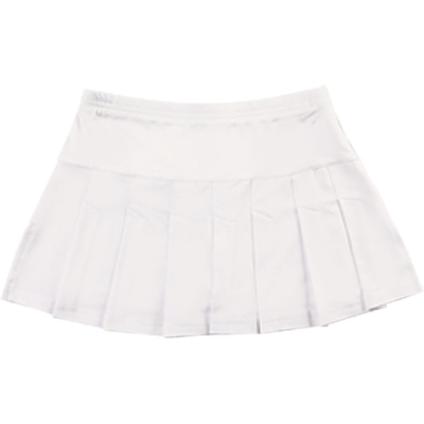 Little Miss Tennis Pleated Skirt w Bikers (Wht)