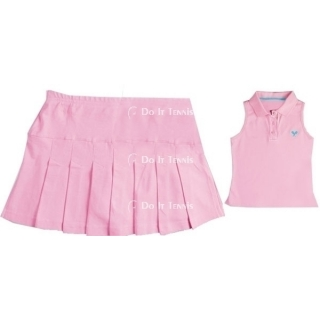 Little Miss Tennis Pleated Skirt W/Biker Short 2 (Pink)