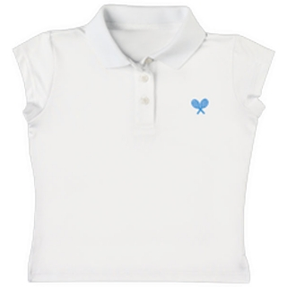 Little Miss Tennis Polo (Wht/ Blu)