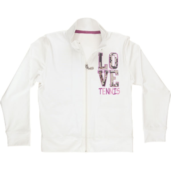 Little Miss Tennis Sequined Love Jacket w Side Pockets