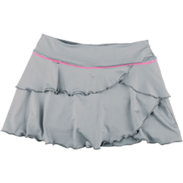 Little Miss Tennis Soft Ruffle Skirt w Bikers (Gry/ Pnk)
