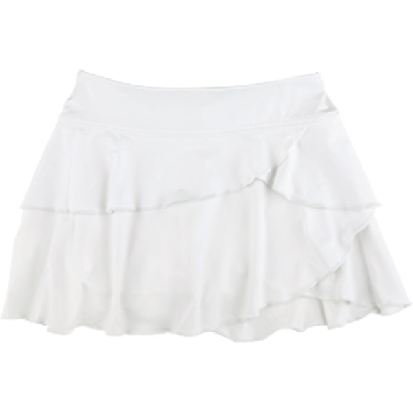 Little Miss Tennis Soft Ruffle Skirt w Bikers (Wht)