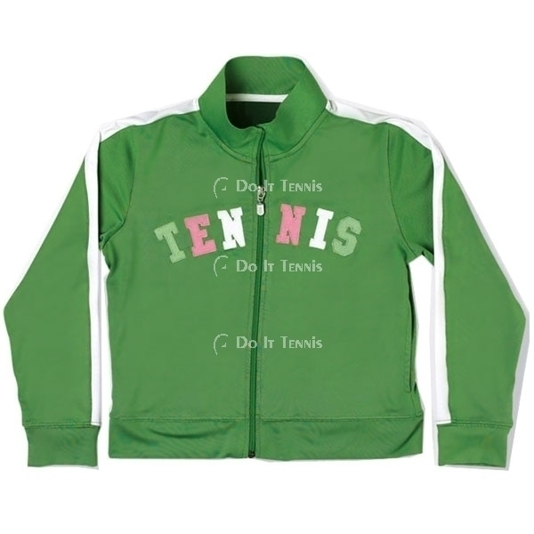 Little Miss Tennis Zippered Jacket (Green)