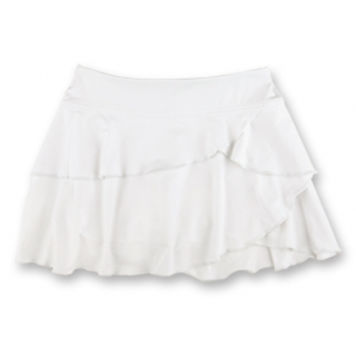 Little Miss Tennis Soft Ruffled Skort (White)