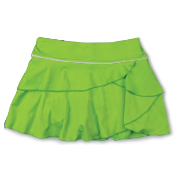 Little Miss Tennis Soft Ruffled Skort (Lime/ Gry)
