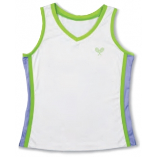 Little Miss Tennis Classic Tank (Wht/ Lim/ Lav)