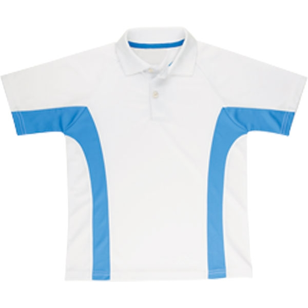 LMT Boys Tennis Polo (Wht/ Blu)