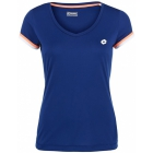 Lotto Women's Shela T-Shirt (Navy/ White) - Lotto Tennis Apparel