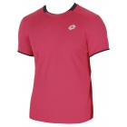 Lotto Men's David Ferrer 1000 T-Shirt (Pink/ Navy) - Tennis Apparel