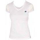 Lotto Women's Nixia T-Shirt (White/ Yellow) - Lotto Tennis Apparel