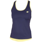 Lotto Women's Nixia Tank (Navy/ Yellow) - Women's Tops Tennis Apparel