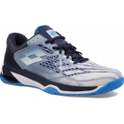 Lotto Men's Mirage 100 Speed Tennis Shoes (All White and Diva Blue) - Lotto Tennis Shoes