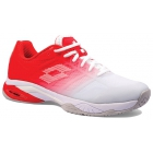 Lotto Men's Mirage 300 II Speed Tennis Shoes (All White/Red Poppy) - Lotto Tennis Shoes