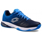 Lotto Men's Mirage 300 II Clay Tennis Shoe (Navy Blue/All White/Diva Blue) - Lotto Tennis Shoes