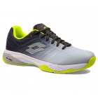 Lotto Men's Mirage 300 II Speed Tennis Shoes (Silver Metal 2/All White/Asphalt) - Lotto Tennis Shoes