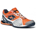 Lotto Men's Raptor Ultra IV Tennis Shoes (Navy/ Orange) - Men's Tennis Shoes