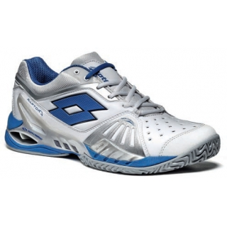 Lotto Men's Raptor Ultra IV Tennis Shoes (White/ Blue)