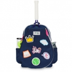 Ame & Lulu Little Love Patches Tennis Backpack (Navy/Pink) - Junior Tennis Bags & Backpacks