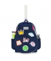 Ame & Lulu Little Love Patches Tennis Backpack (Navy/Pink) - Tennis Gift Ideas for Junior Players
