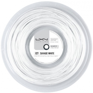 Luxilon Savage White 127 16g Tennis String (Reel)